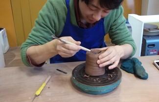 男の陶芸体験