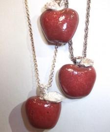 銀粘土教室りんご作品-3